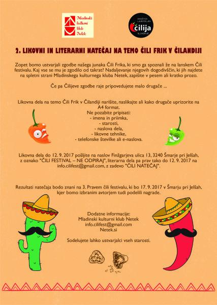 natečaj čili festival 2017